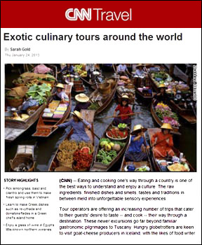 International culinary tours