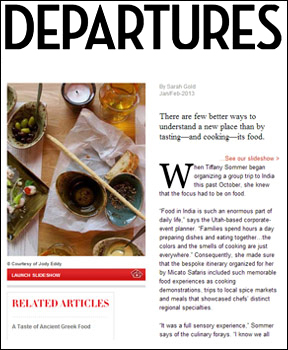 Artisans of Leisure in Departures magazine