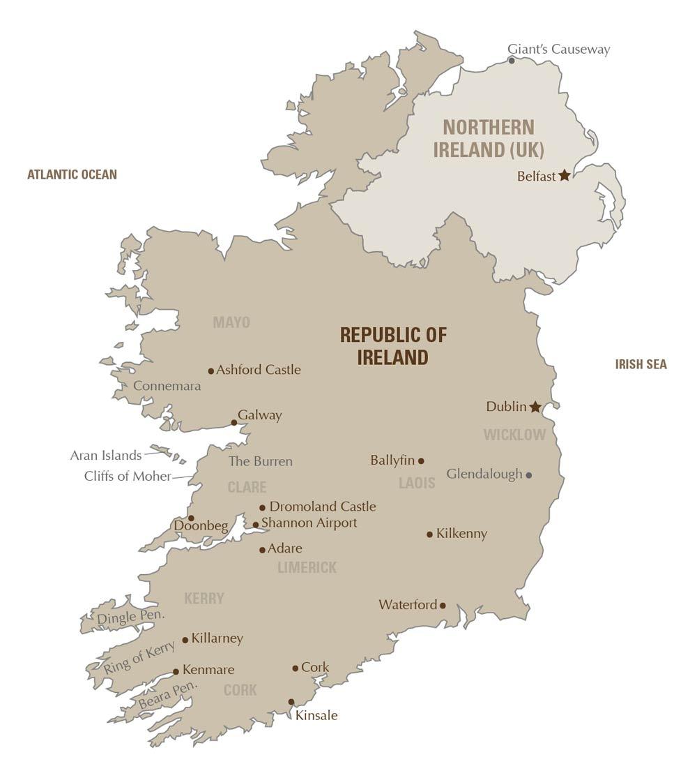 Map Of Ireland Kenmare.Luxury Ireland Tours Artisans Of Leisure Private Ireland Tours
