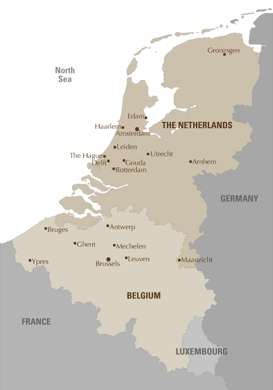 holland belgium map