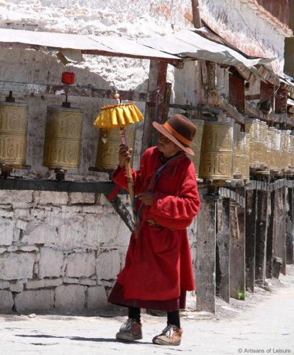 Buddhist pilgrim Tibet