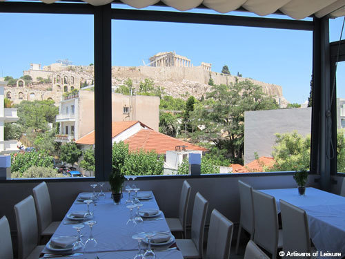 restaurant with Acropolis view