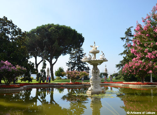 Dolmabahce Palace gardens