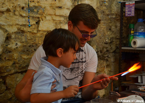glassblowing lesson