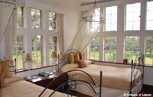 luxury Kenya tours Giraffe Manor room