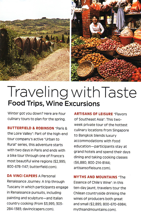 Bon Appetit Traveling with Taste article