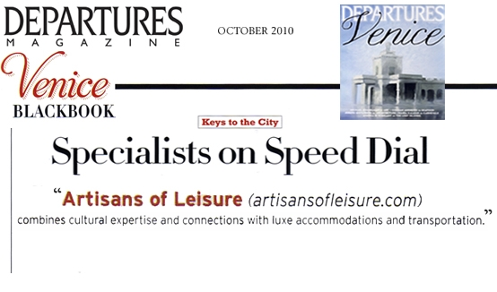 Departures Venice Specialists on Speed Dial article