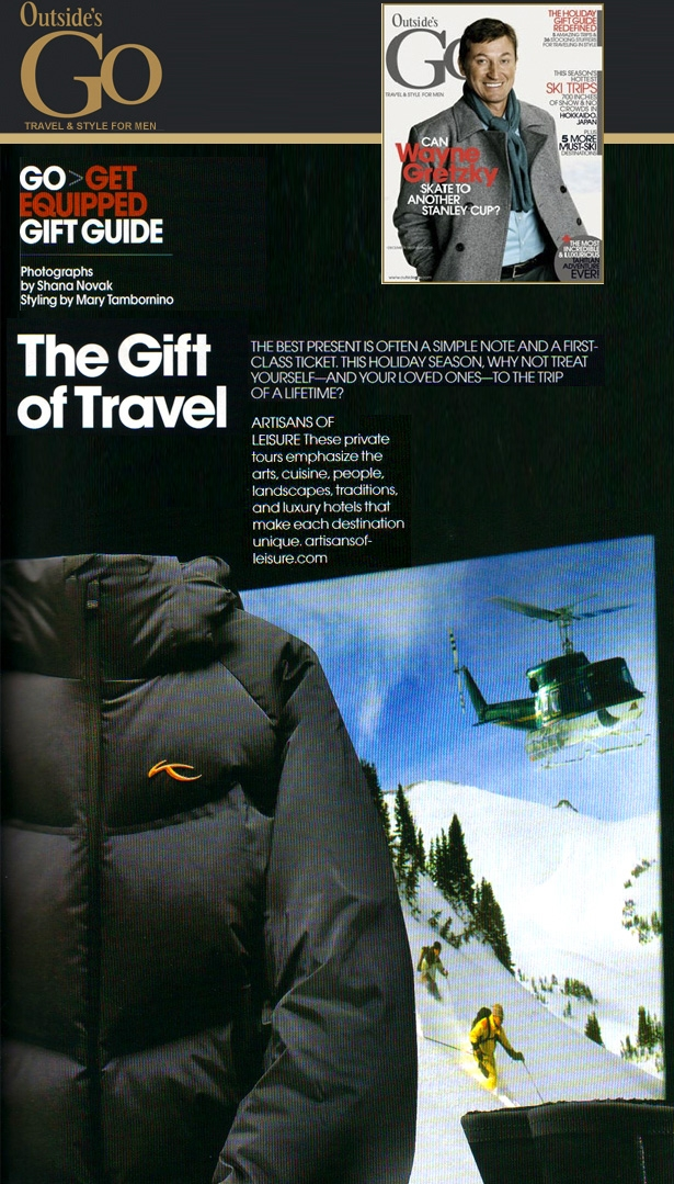 Outside Go Magazine 2008 The Gift of Travel