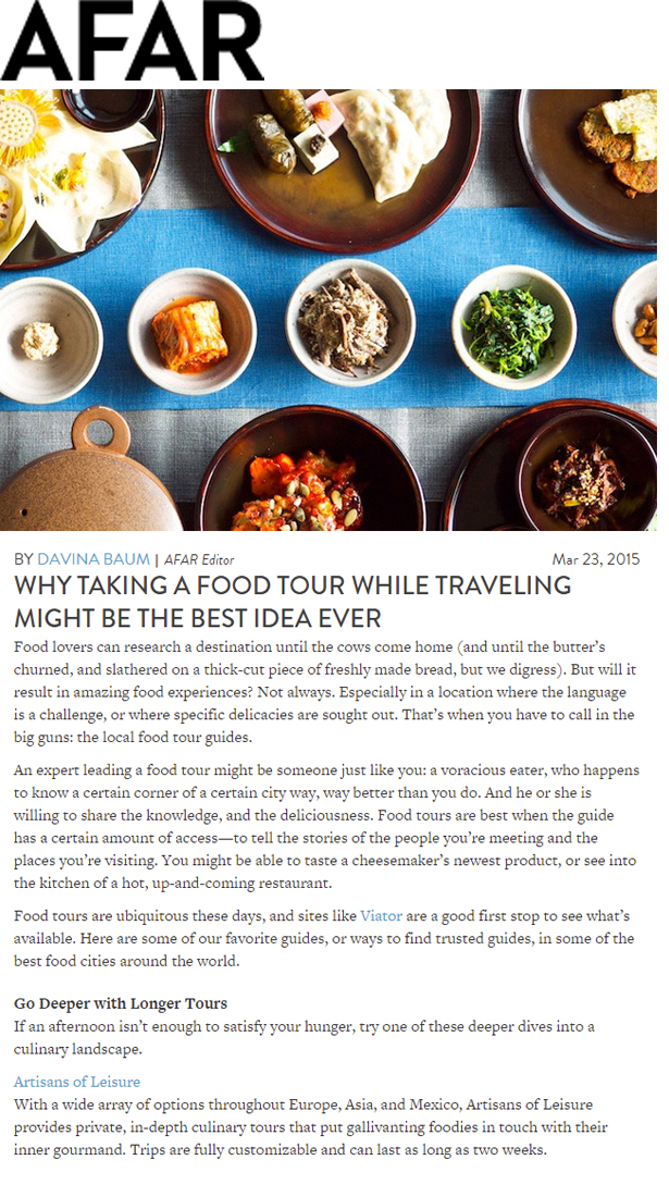 AFAR Blog Culinary touring MAR 2015
