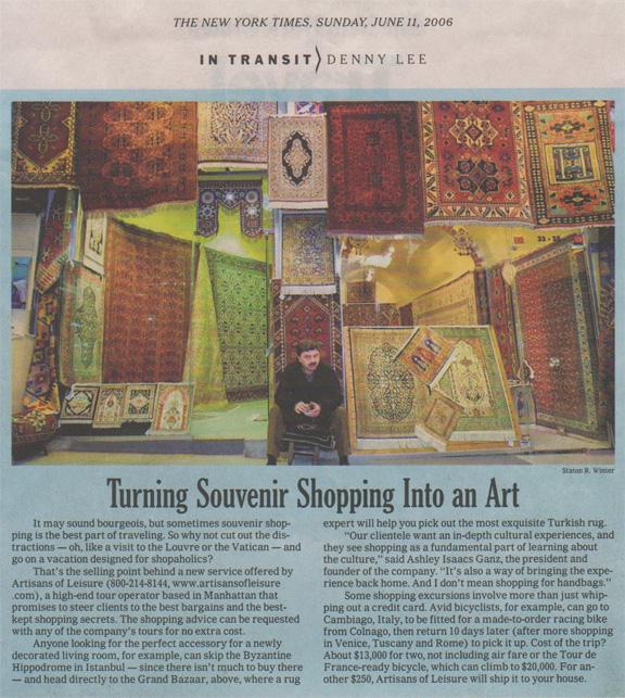 NYT Turning Souvenir Shopping Into Art