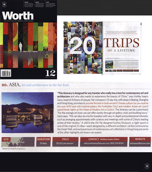 Worth Magazine Best Tours