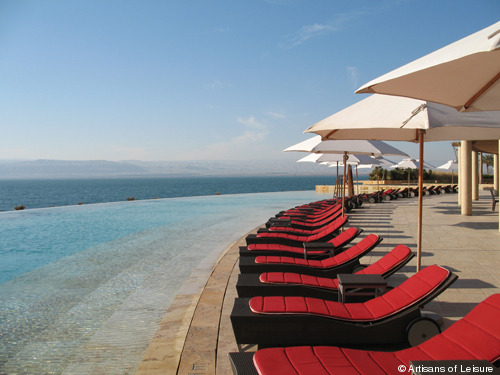 81-Kempinski Ishtar Dead Sea - one of the pools.JPG